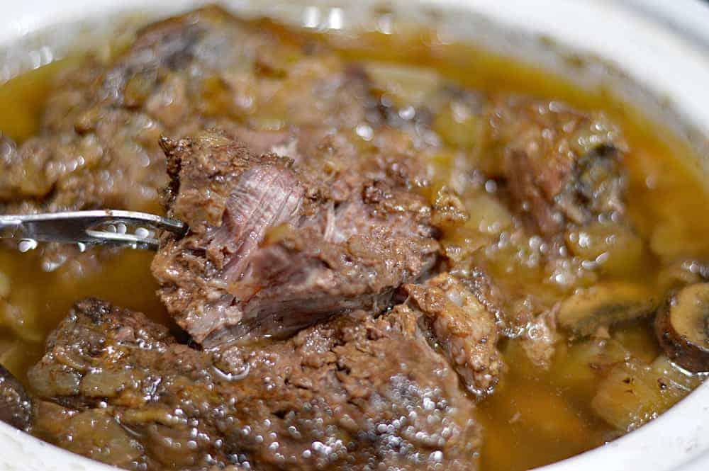 Juicy bite of Slow Cooker Beef Pot Roast Recipe