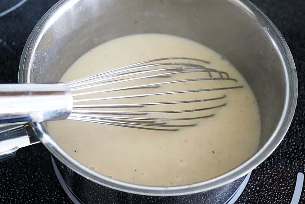 Melted cheese sauce