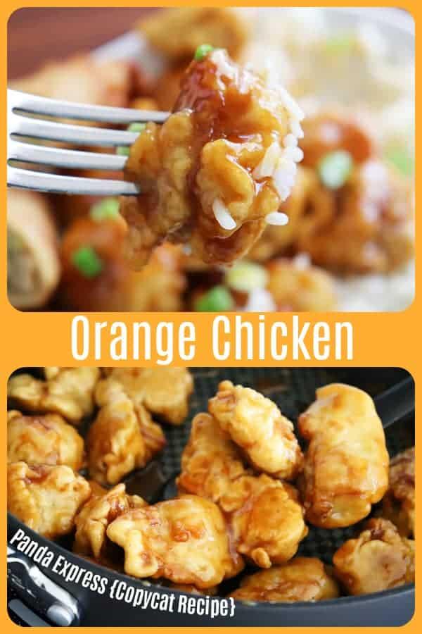 Pinterest image The Original Orange Chicken by Panda Express {Copycat Recipe}