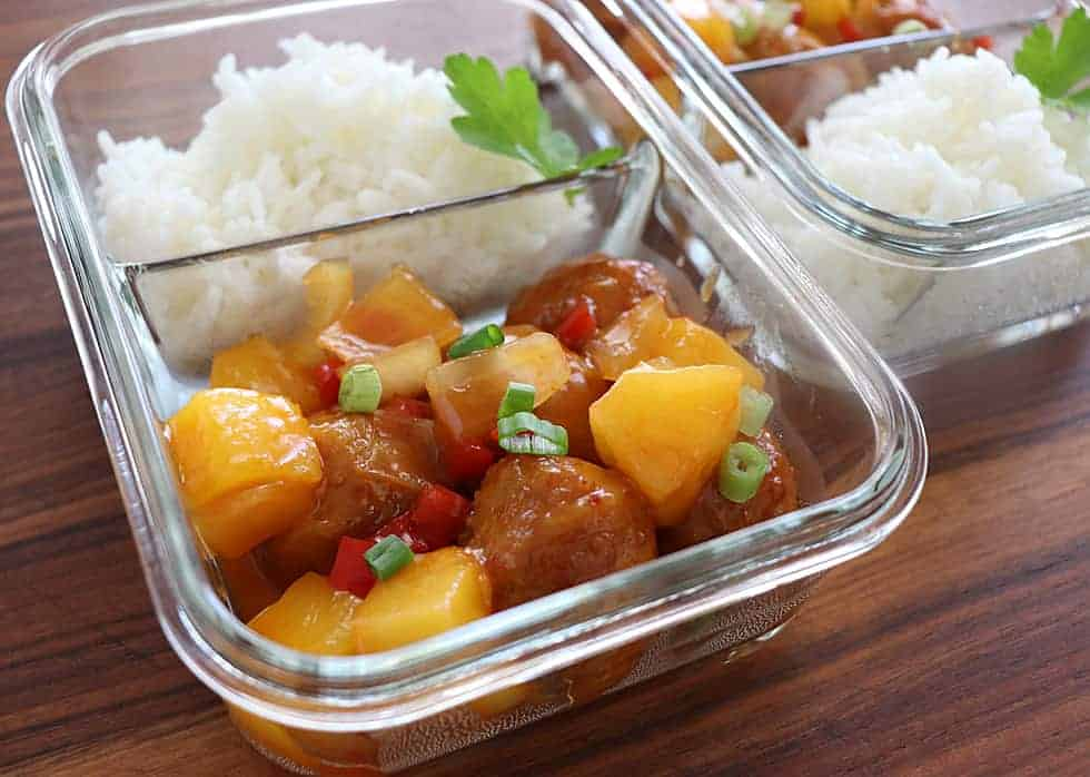 Meal Prep Sweet and Sour Meatballs