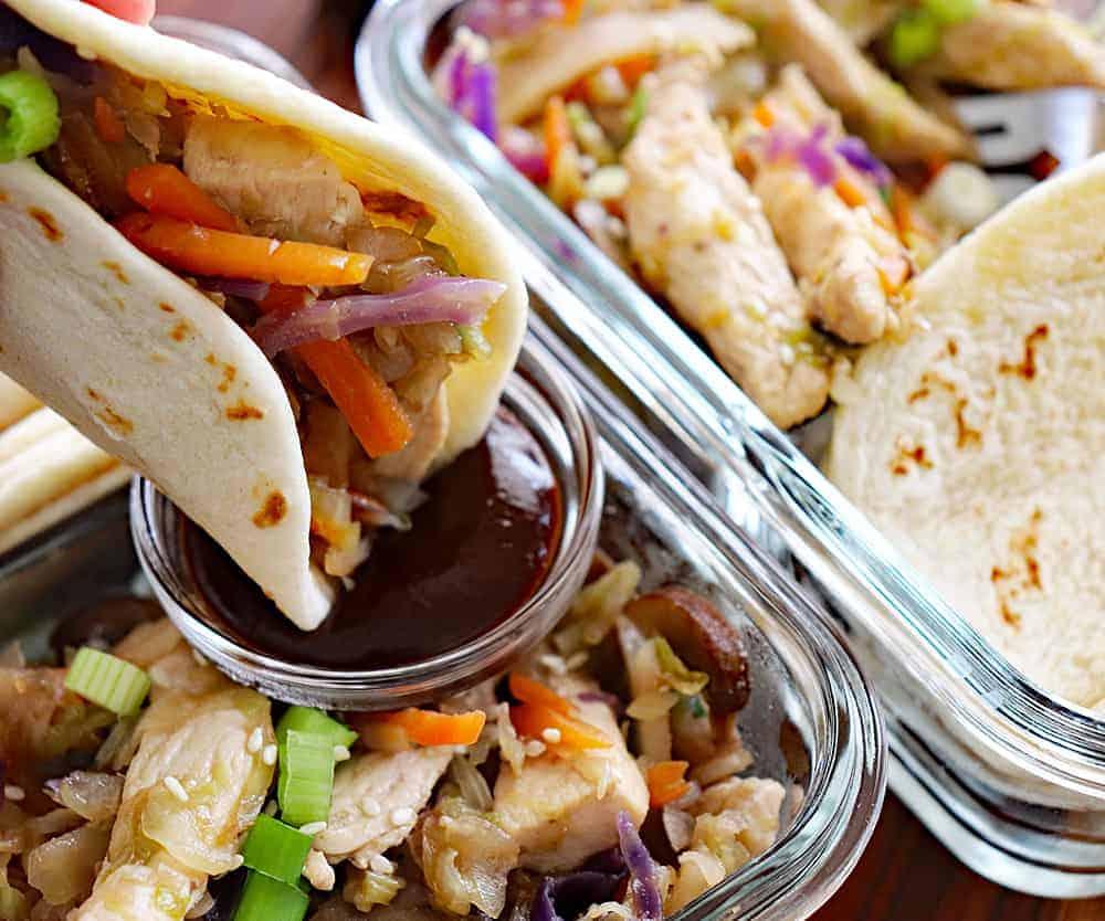 moo shu chicken with hoisin sauce  aimeestock